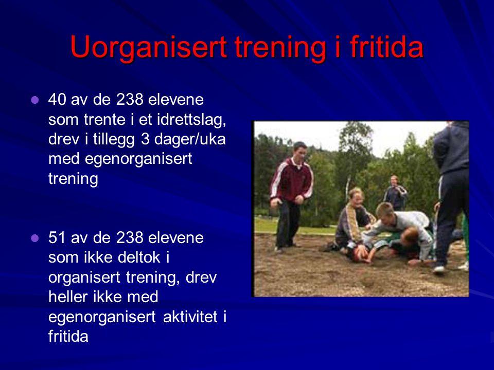 Uorganisert trening i fritida