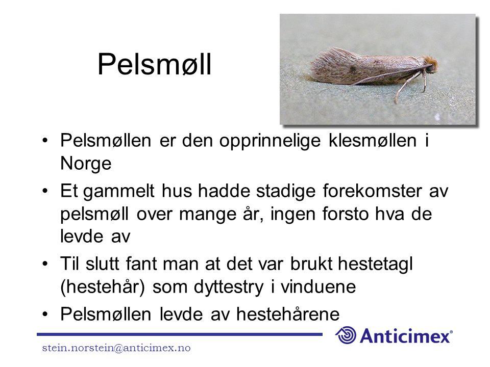 Pelsmøll Pelsmøllen er den opprinnelige klesmøllen i Norge