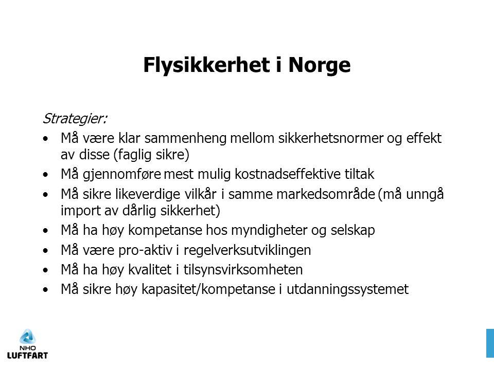 Flysikkerhet i Norge Strategier: