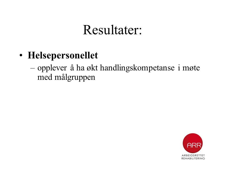 Resultater: Helsepersonellet