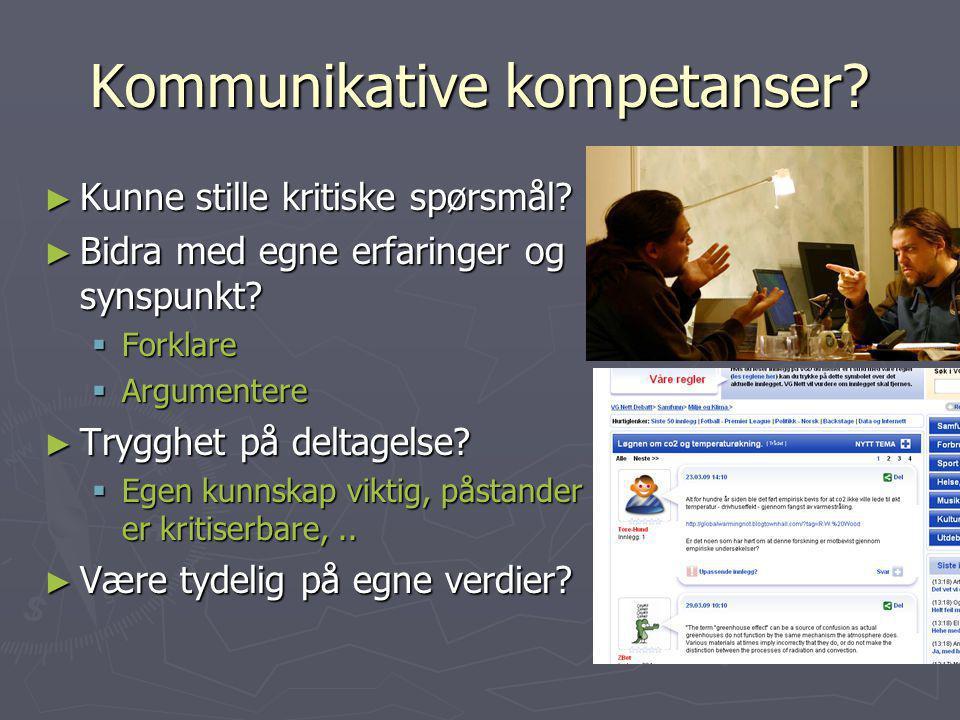 Kommunikative kompetanser