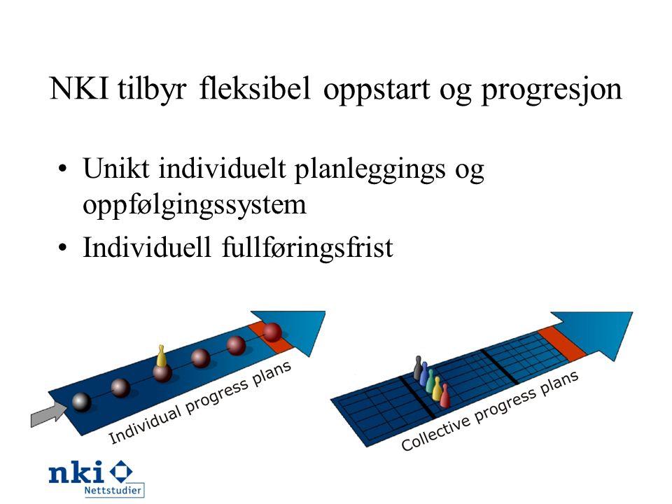 NKI tilbyr fleksibel oppstart og progresjon