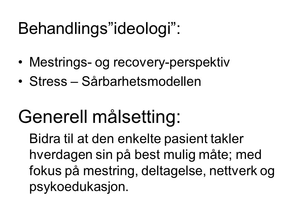 Behandlings ideologi :