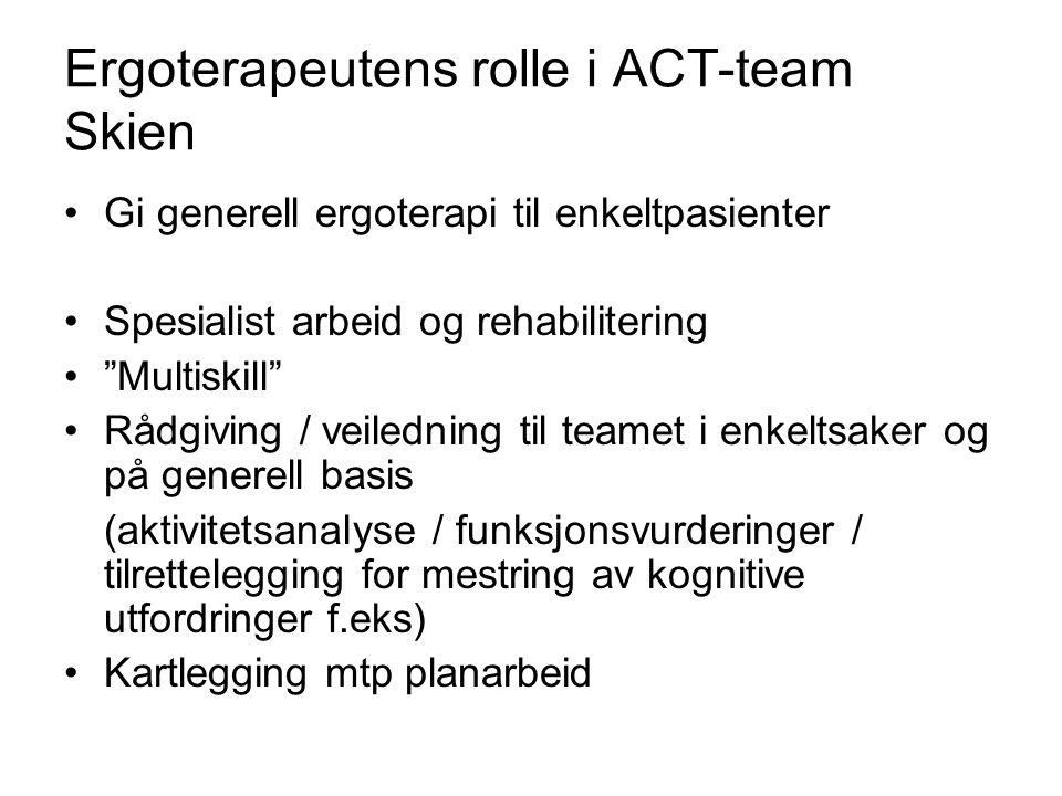 Ergoterapeutens rolle i ACT-team Skien