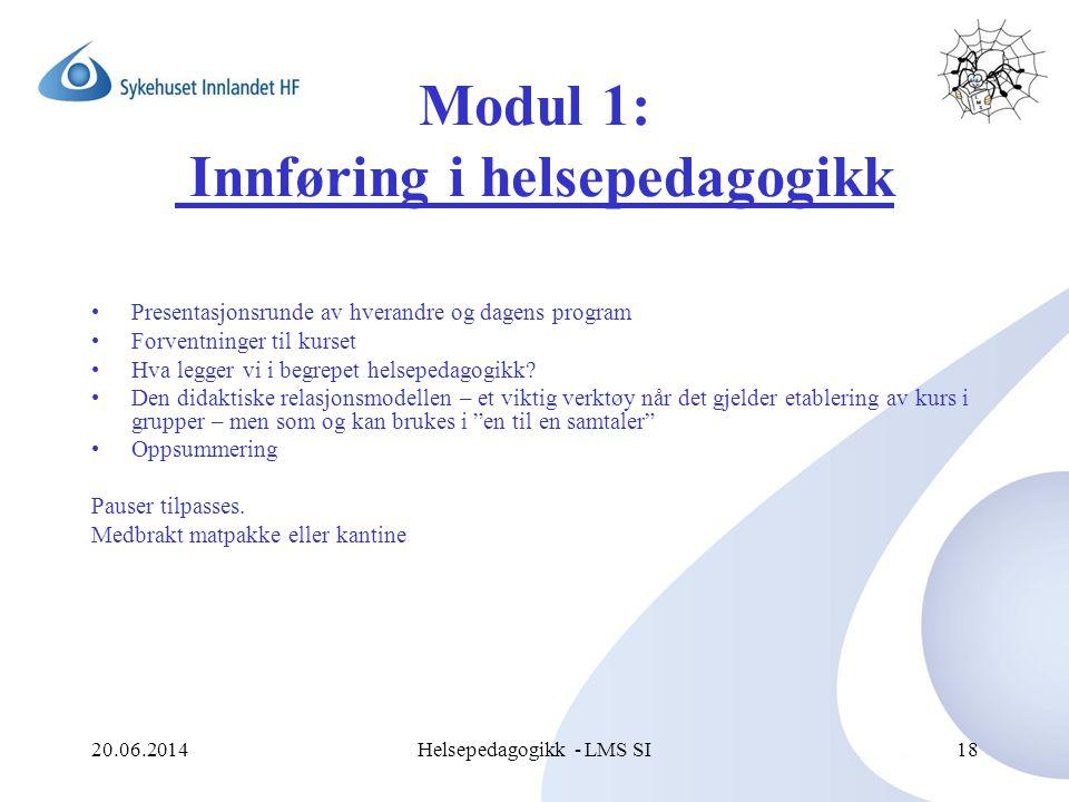 Modul 1: Innføring i helsepedagogikk