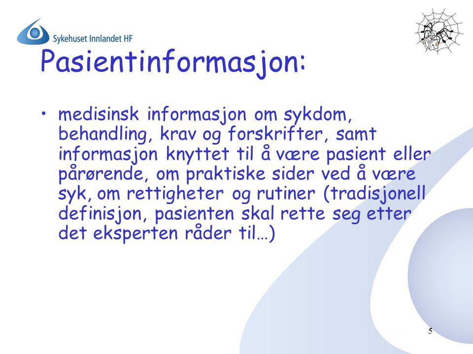 Pasientinformasjon: