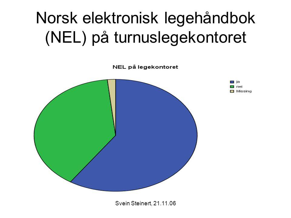 Norsk elektronisk legehåndbok (NEL) på turnuslegekontoret