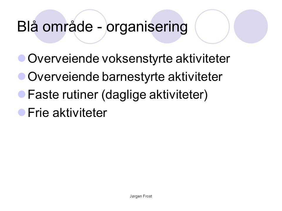 Blå område - organisering