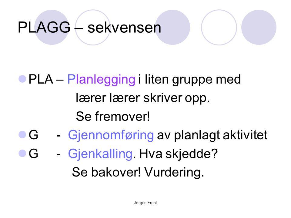 PLAGG – sekvensen PLA – Planlegging i liten gruppe med