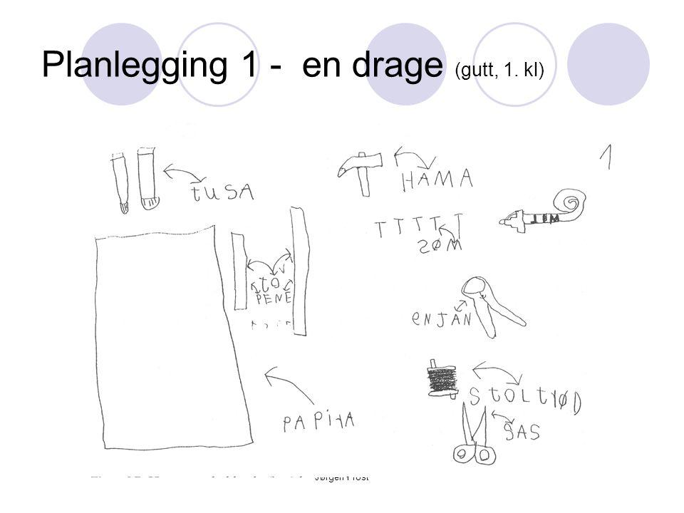 Planlegging 1 - en drage (gutt, 1. kl)