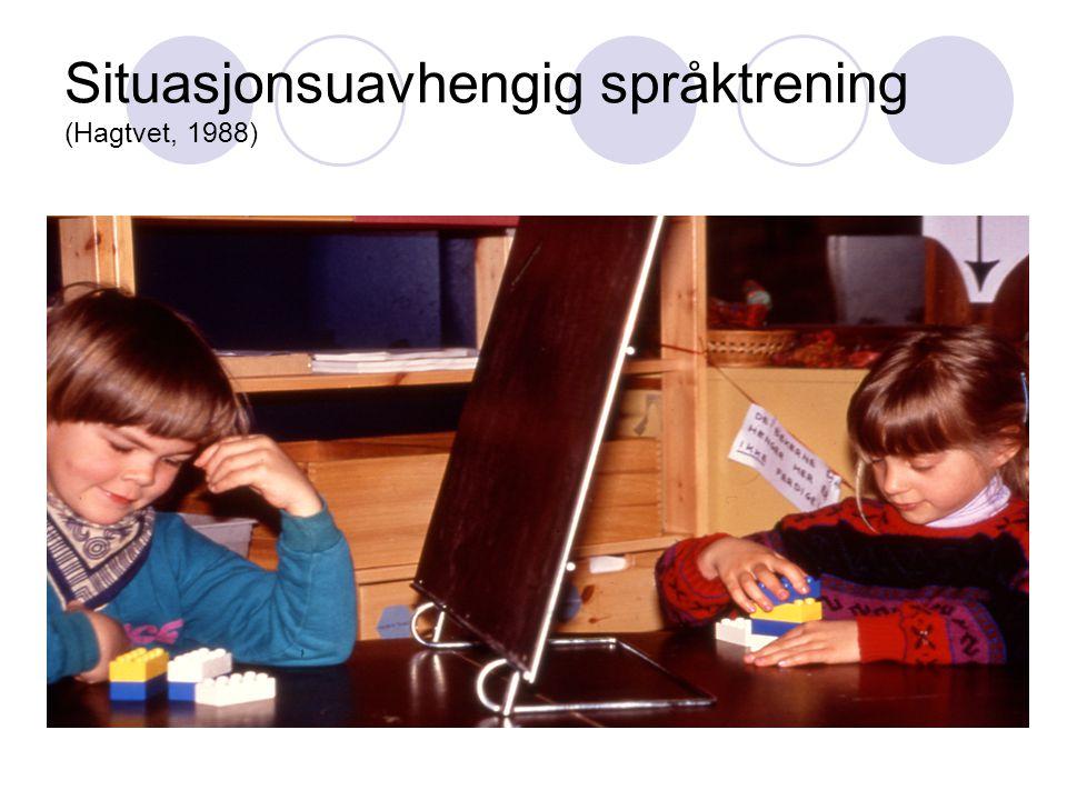 Situasjonsuavhengig språktrening (Hagtvet, 1988)