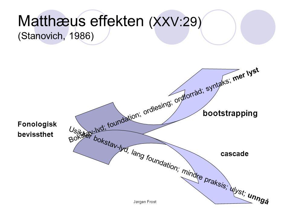 Matthæus effekten (XXV:29) (Stanovich, 1986)