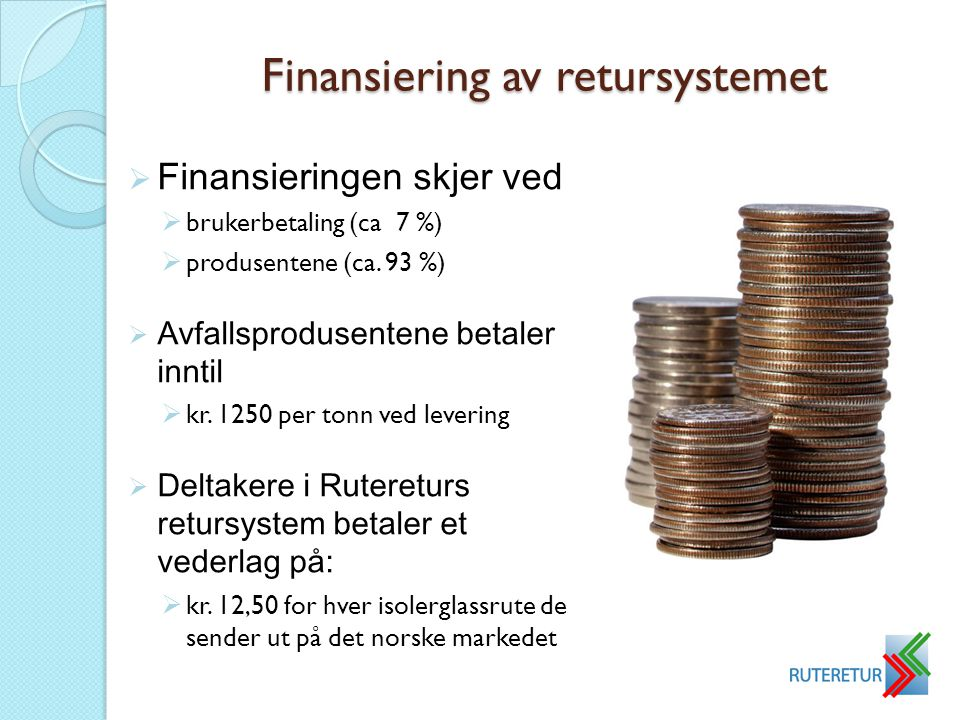 Finansiering av retursystemet
