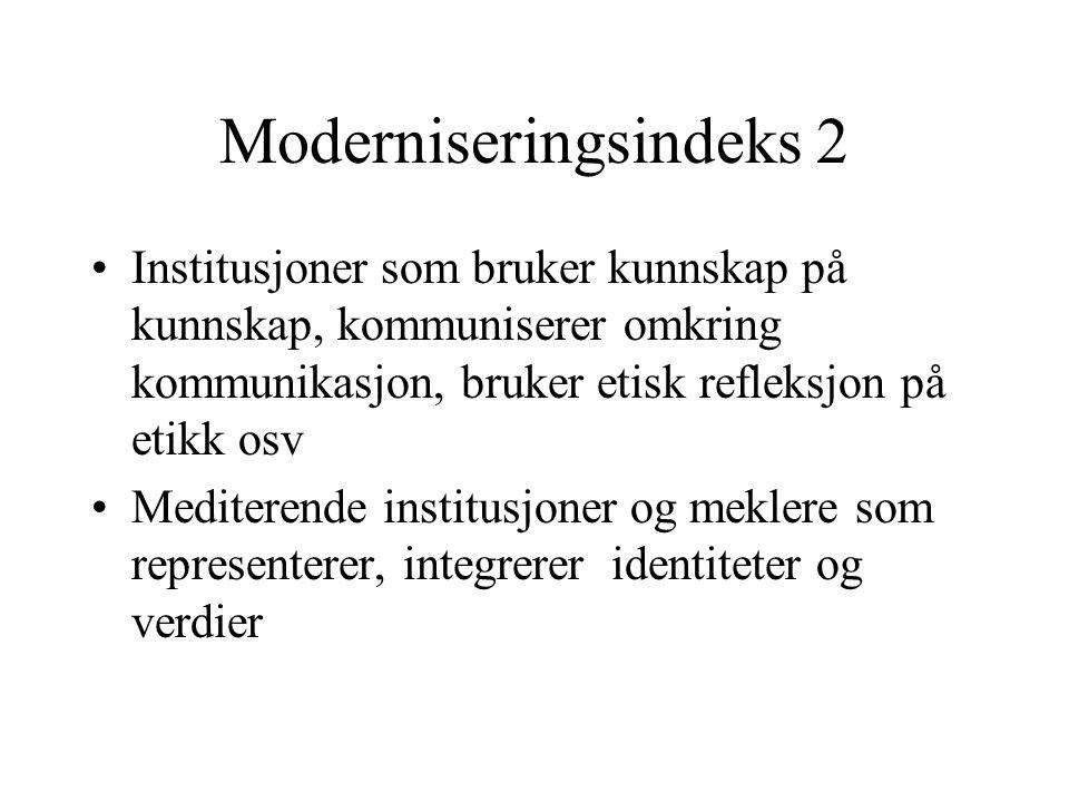 Moderniseringsindeks 2