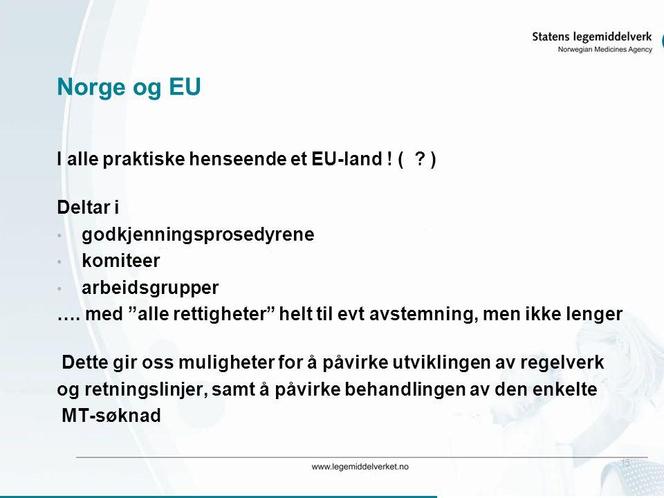 Norge og EU I alle praktiske henseende et EU-land ! ( ) Deltar i