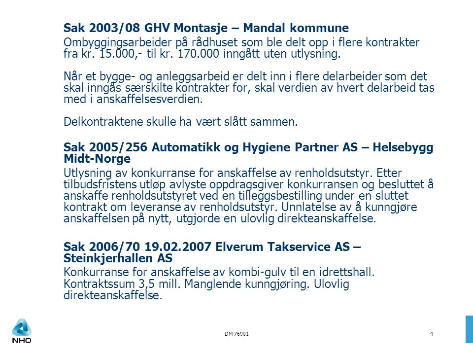 Sak 2003/08 GHV Montasje – Mandal kommune