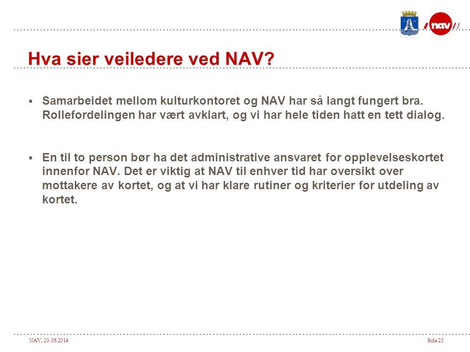 Hva sier veiledere ved NAV