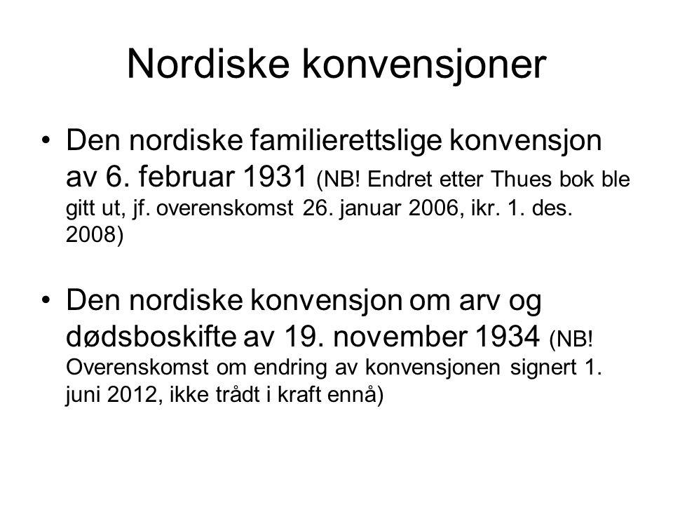 Nordiske konvensjoner