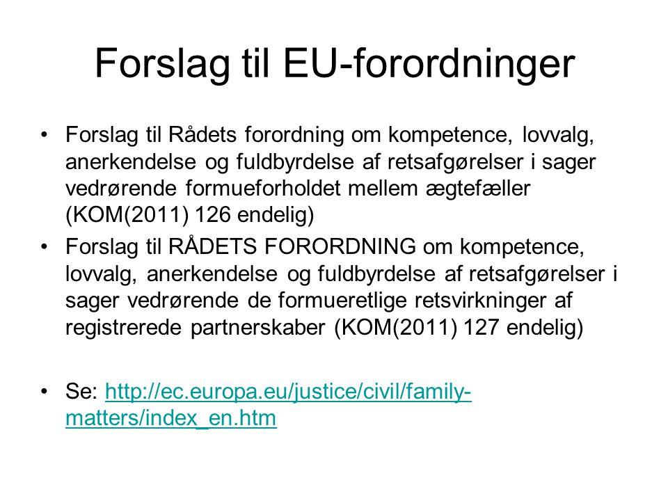 Forslag til EU-forordninger