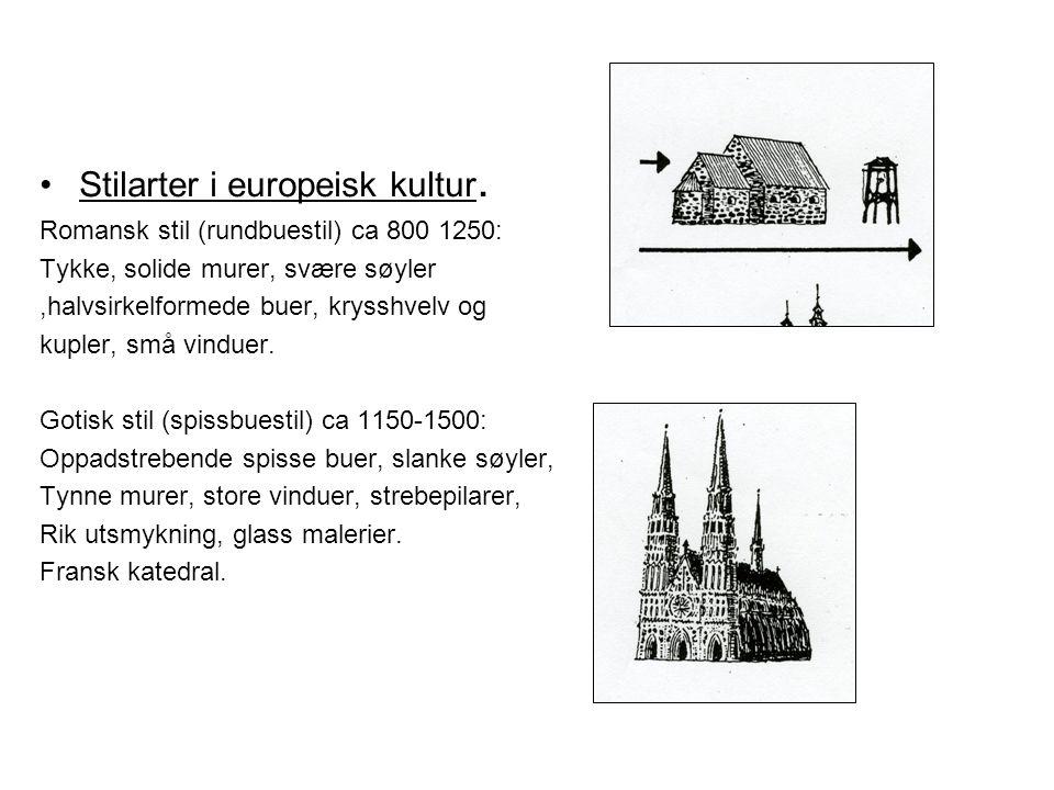 Stilarter i europeisk kultur.