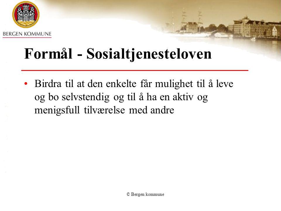 Formål - Sosialtjenesteloven