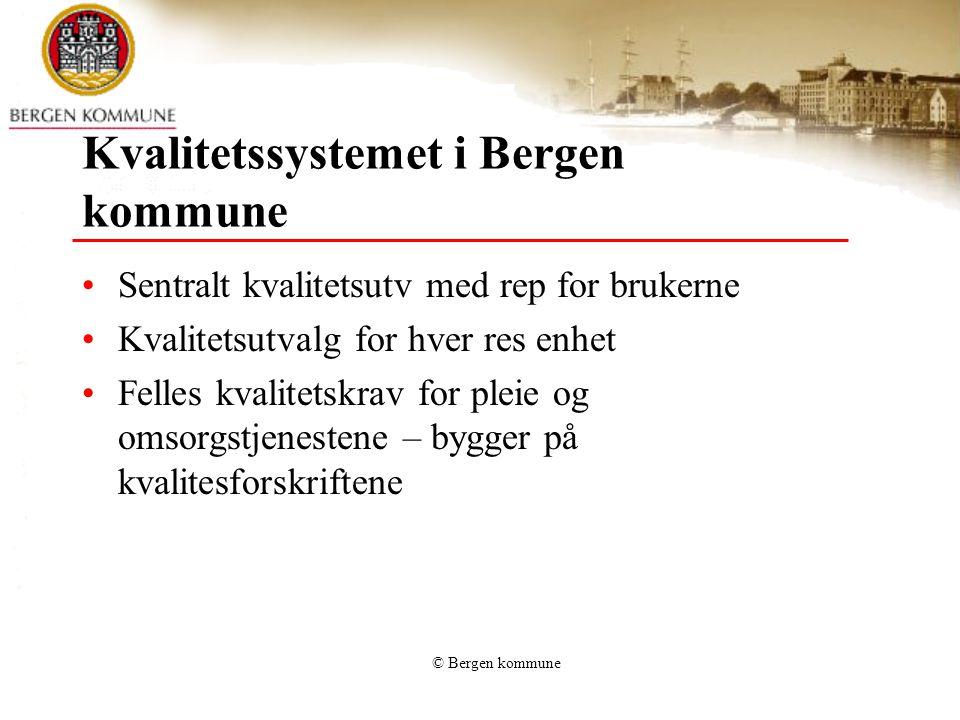 Kvalitetssystemet i Bergen kommune
