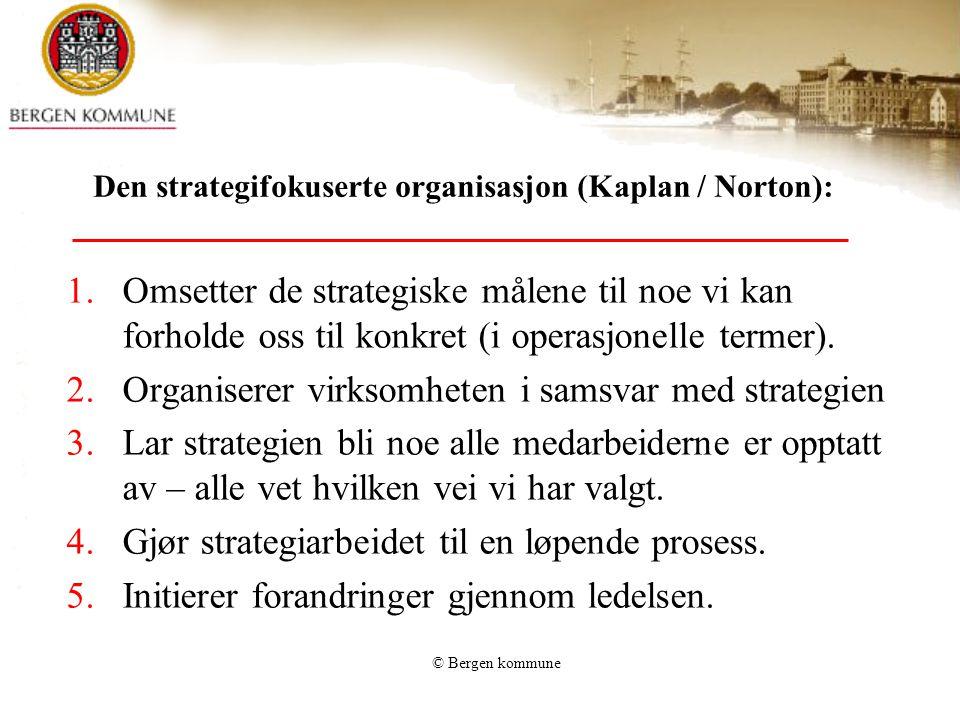 Den strategifokuserte organisasjon (Kaplan / Norton):