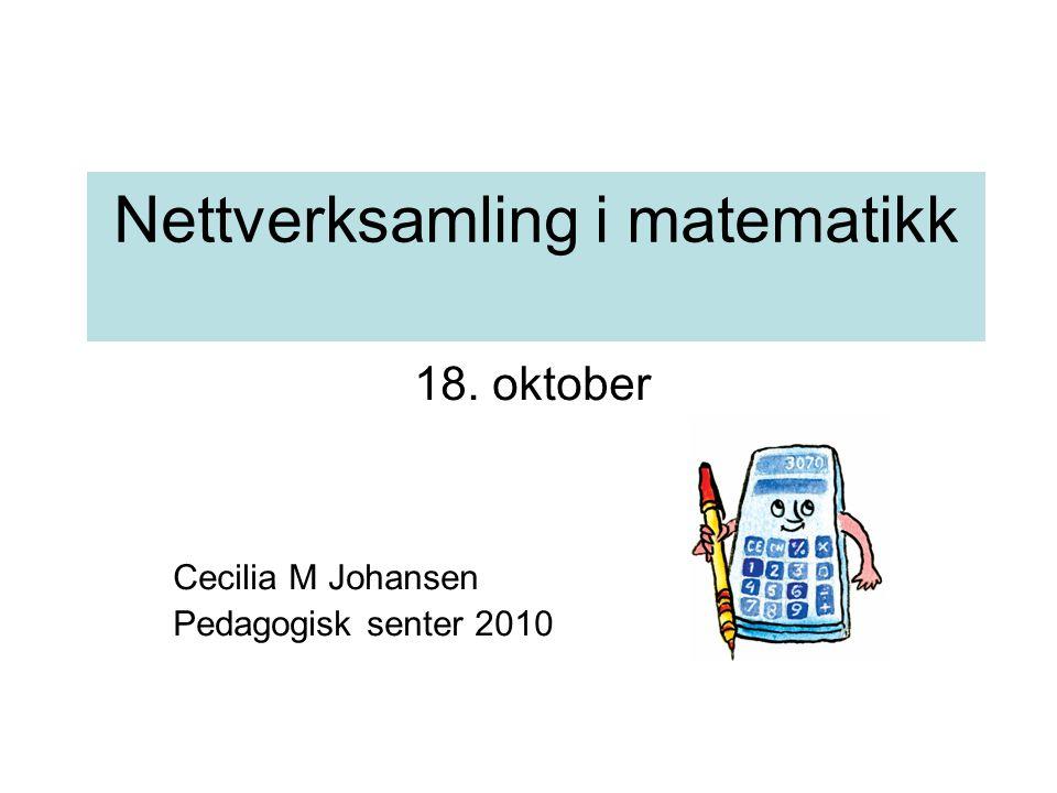 Nettverksamling i matematikk