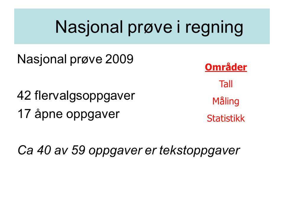 Nasjonal prøve i regning