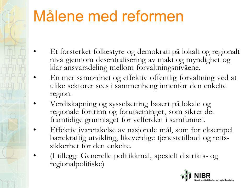 Målene med reformen