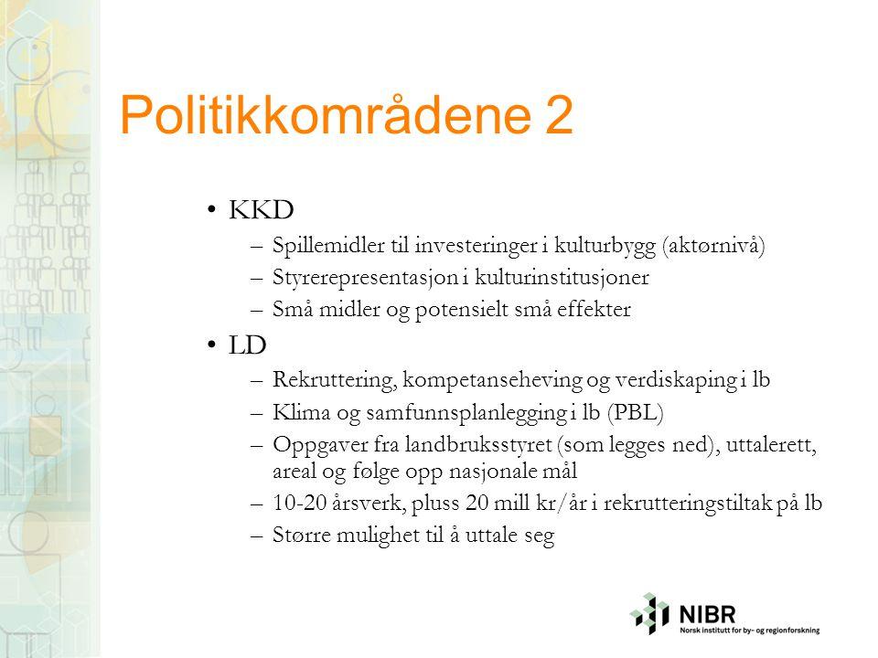 Politikkområdene 2 KKD LD
