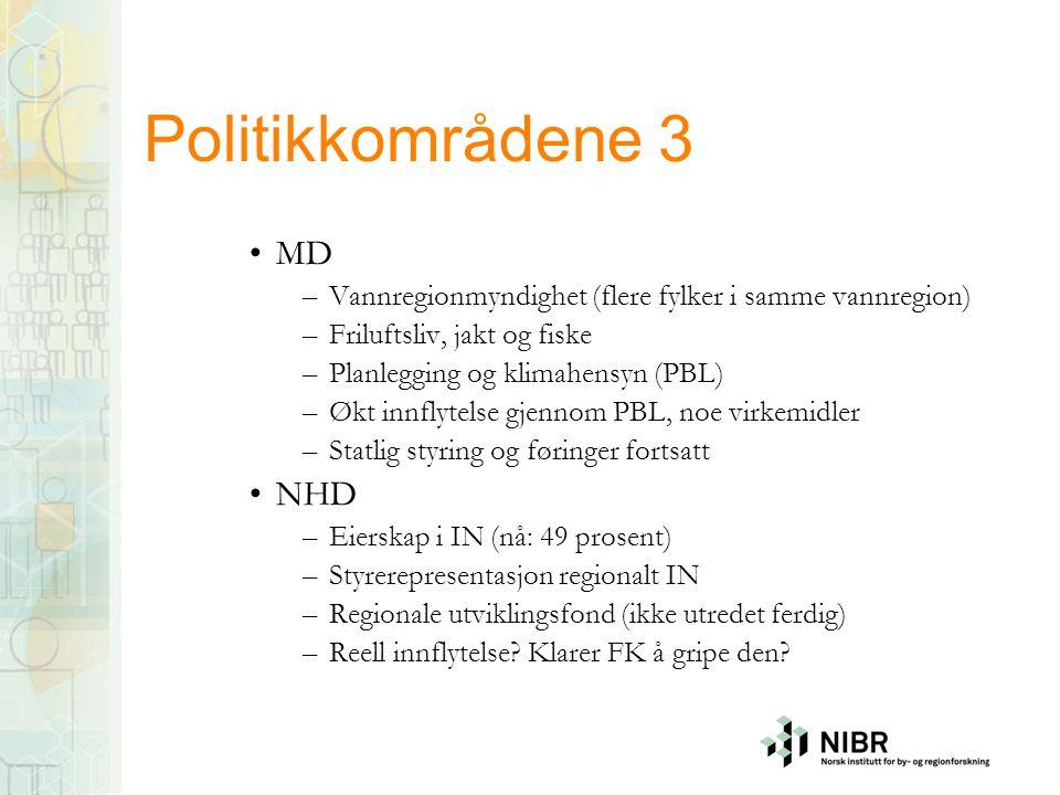 Politikkområdene 3 MD NHD