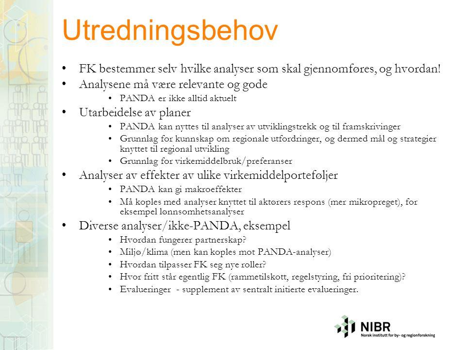 Utredningsbehov FK bestemmer selv hvilke analyser som skal gjennomføres, og hvordan! Analysene må være relevante og gode.