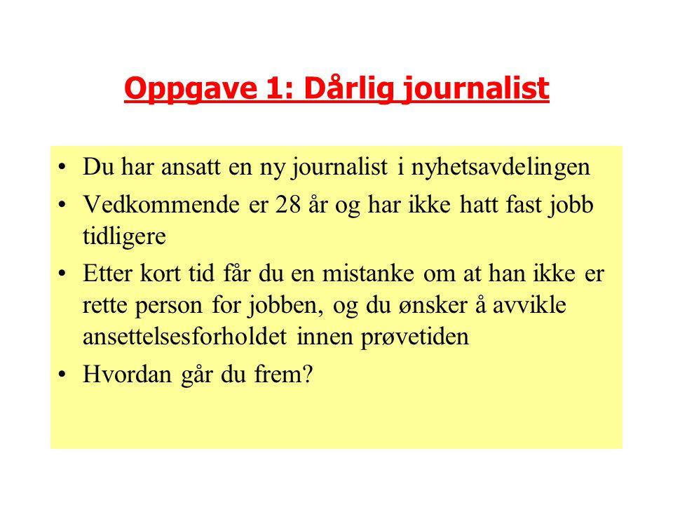 Oppgave 1: Dårlig journalist