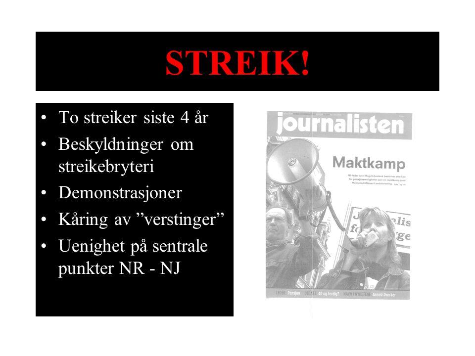 STREIK! To streiker siste 4 år Beskyldninger om streikebryteri