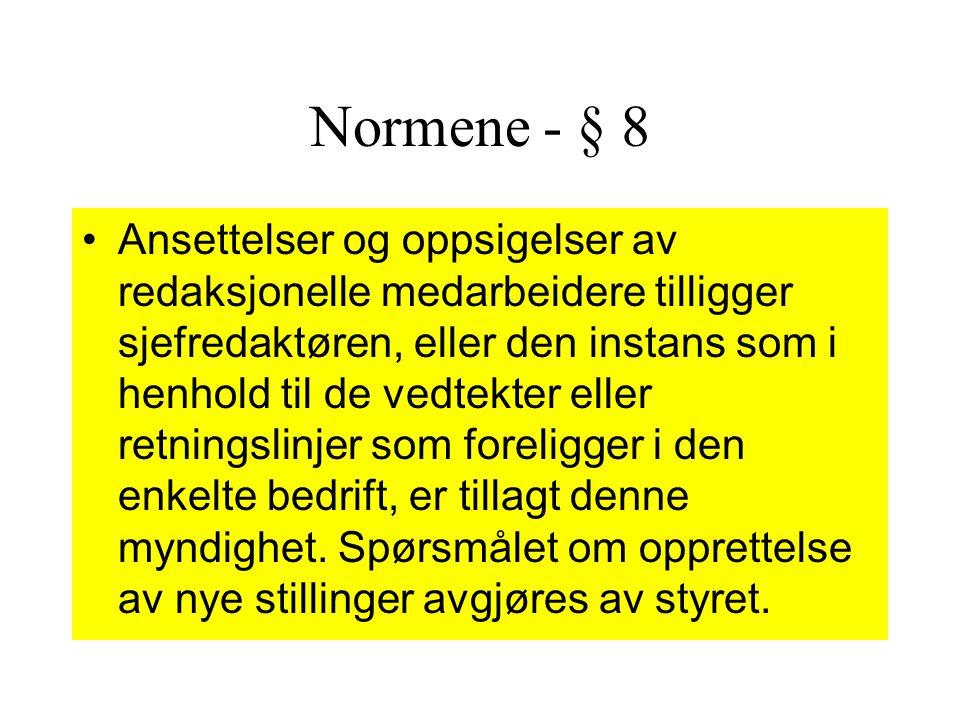 Normene - § 8