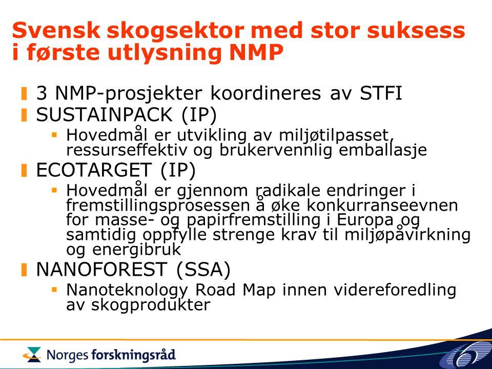 Svensk skogsektor med stor suksess i første utlysning NMP