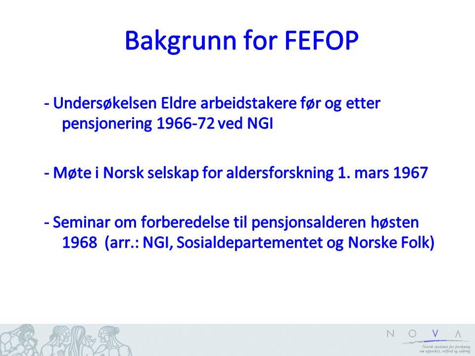 Bakgrunn for FEFOP
