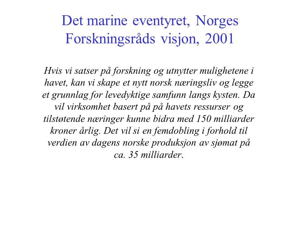 Det marine eventyret, Norges Forskningsråds visjon, 2001