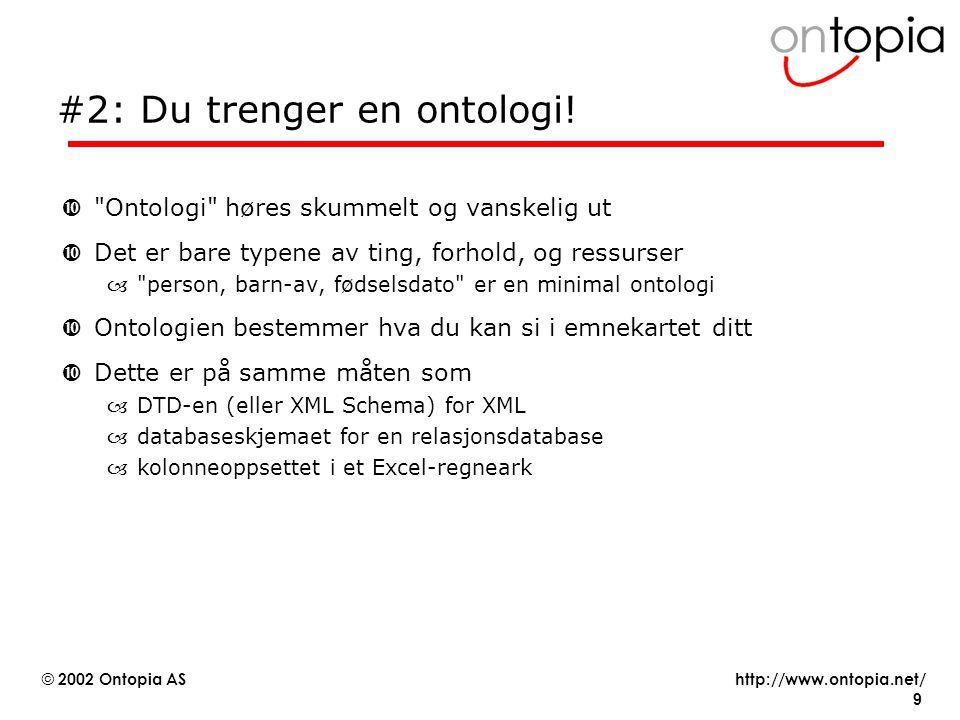 #2: Du trenger en ontologi!