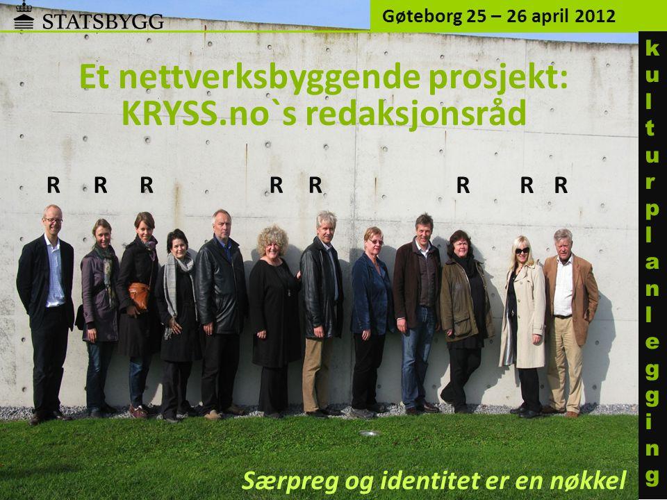 Et nettverksbyggende prosjekt: KRYSS.no`s redaksjonsråd