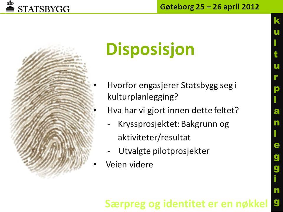 Disposisjon Særpreg og identitet er en nøkkel