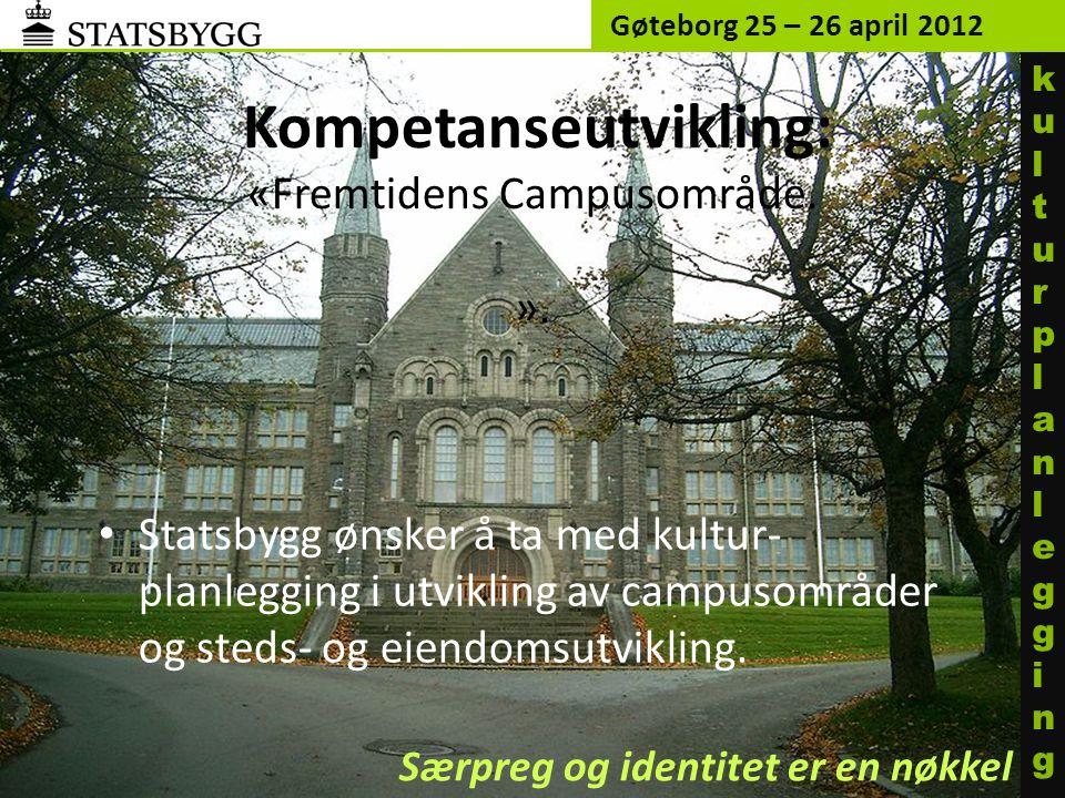 Kompetanseutvikling: «Fremtidens Campusområde. ».