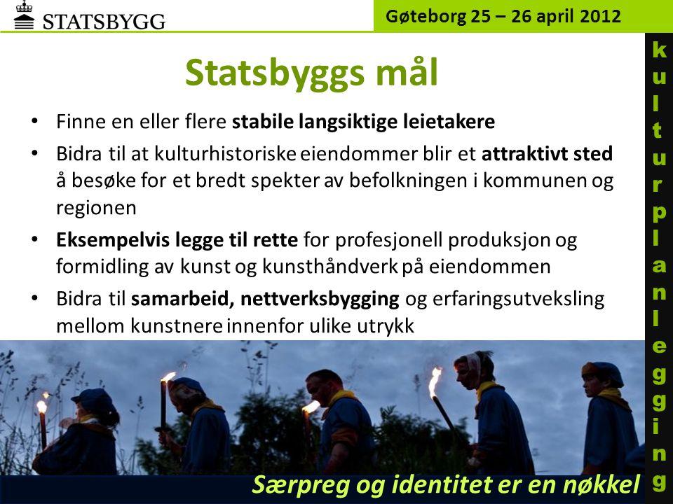 Statsbyggs mål Særpreg og identitet er en nøkkel