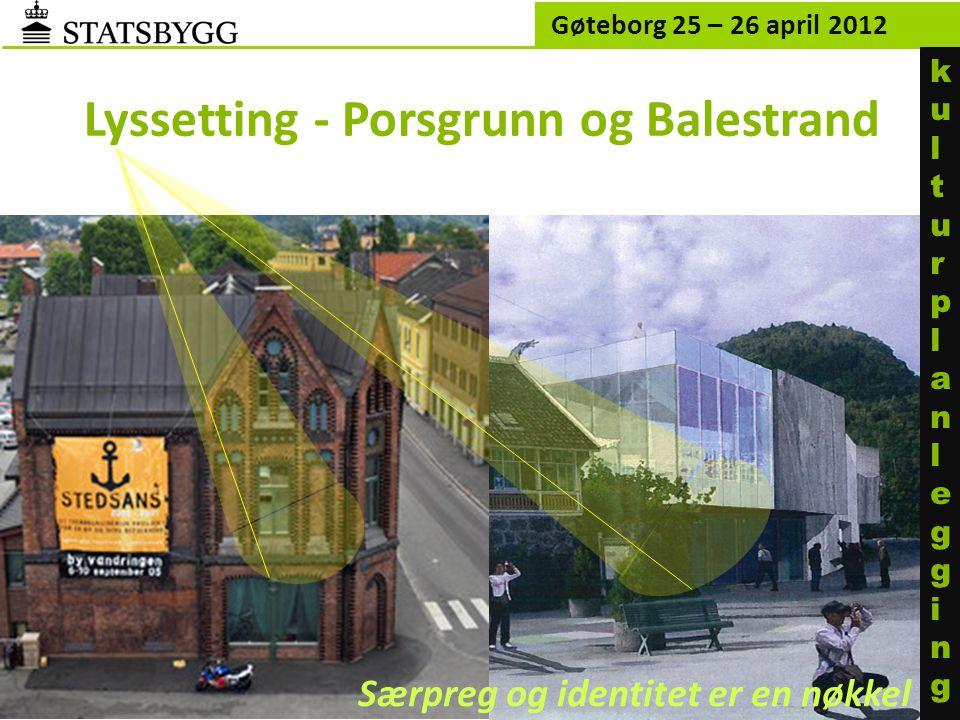 Lyssetting - Porsgrunn og Balestrand