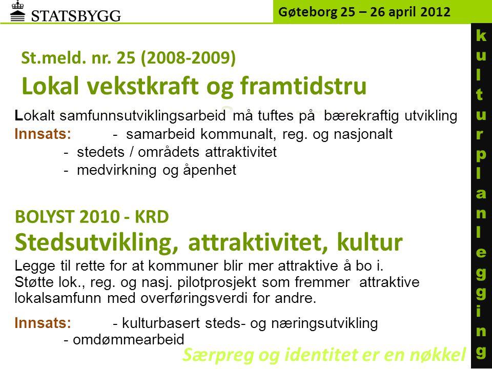 St.meld. nr. 25 (2008-2009) Lokal vekstkraft og framtidstru
