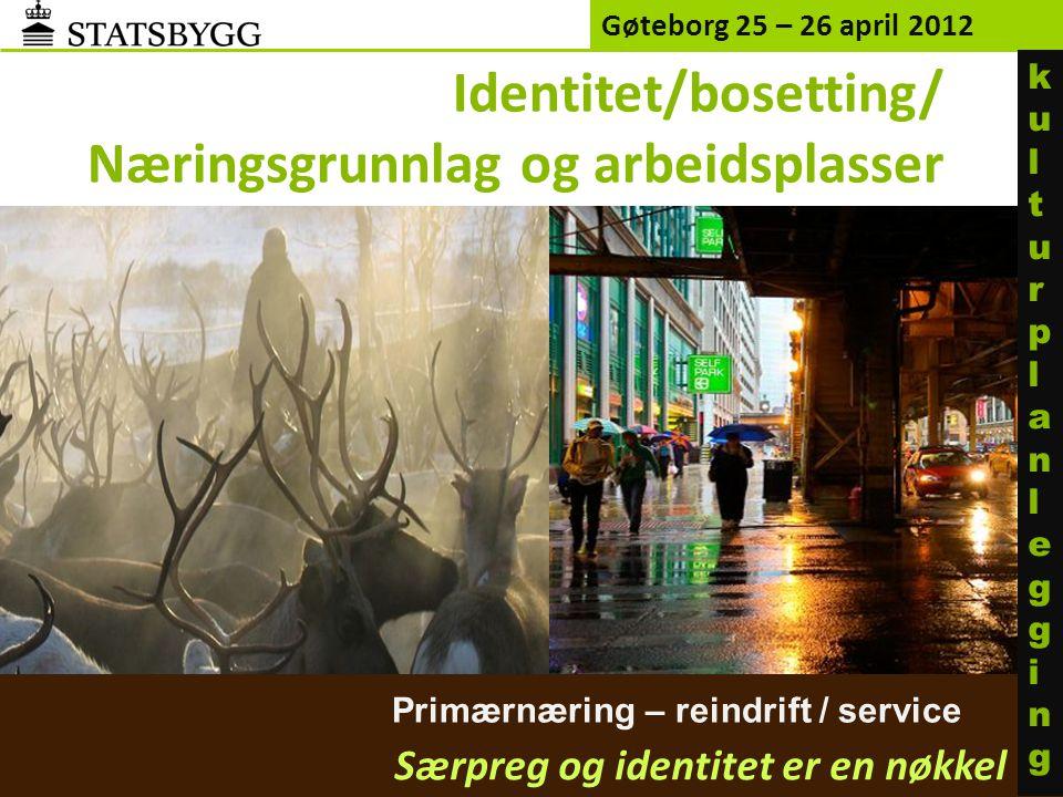 Identitet/bosetting/ Næringsgrunnlag og arbeidsplasser