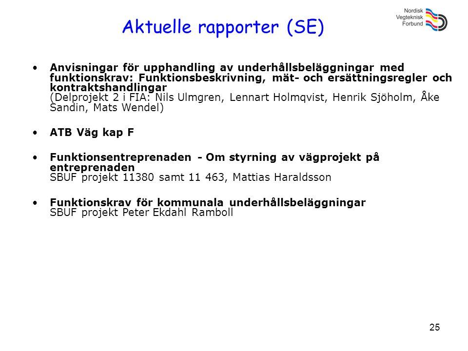 Aktuelle rapporter (SE)