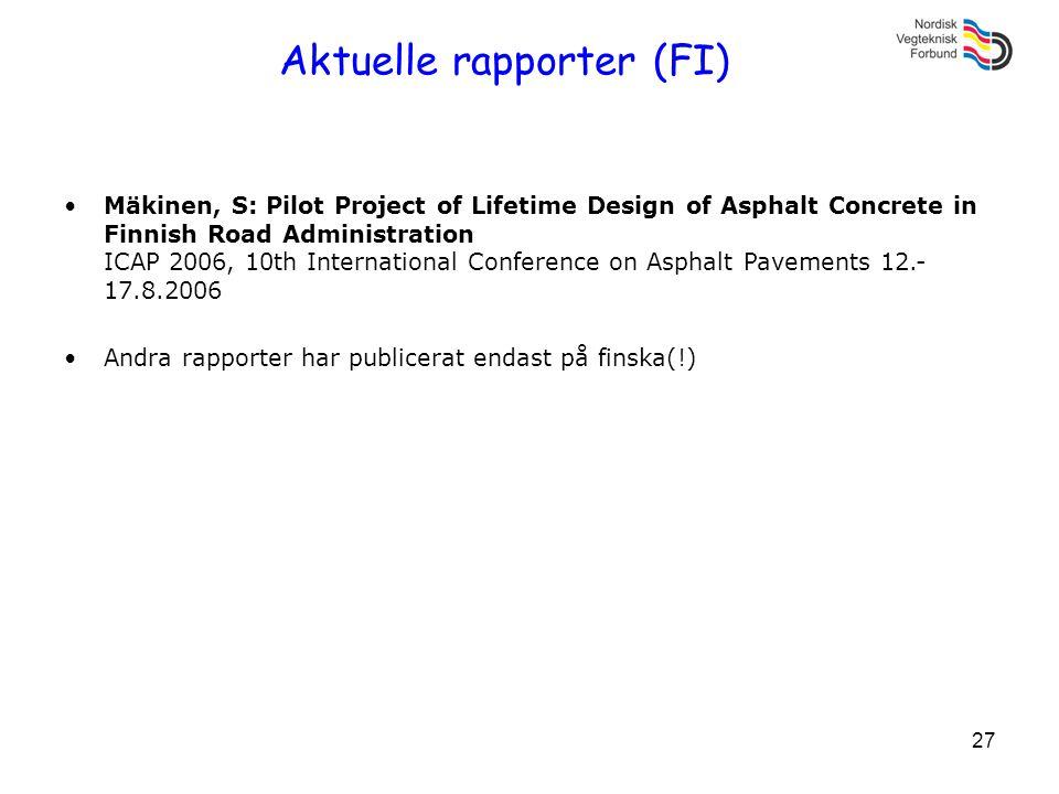 Aktuelle rapporter (FI)