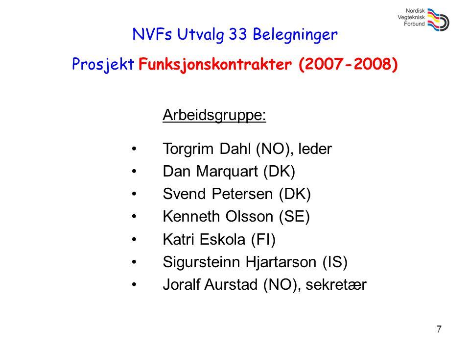 NVFs Utvalg 33 Belegninger Prosjekt Funksjonskontrakter (2007-2008)